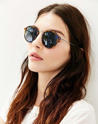 rounded Women's sunglass -24