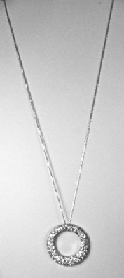 white gold pendent necklace
