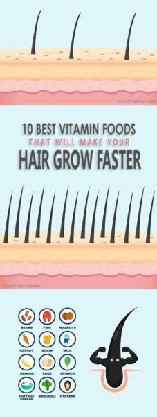 vitamin foods for hair growth