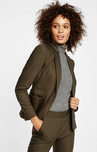 24 inch one Buttoned Blazer Jacket