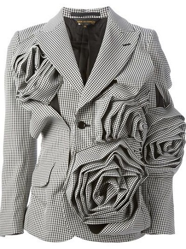 3d designed floral blazer