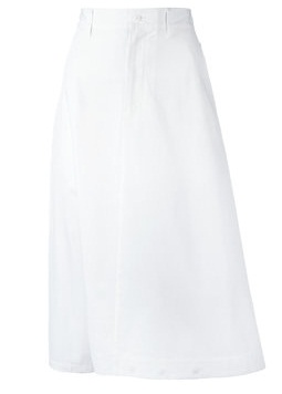 A-line casual white skirt