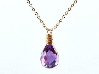 Alexandrite June birthstone necklace