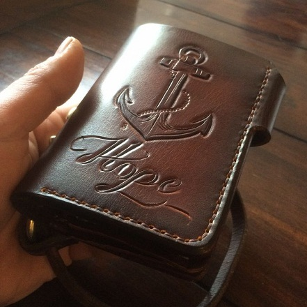 Anchor Tattoo Crafted Wallet