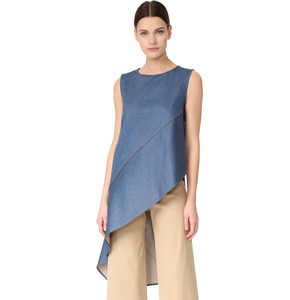 Angled Denim Tunic for Women