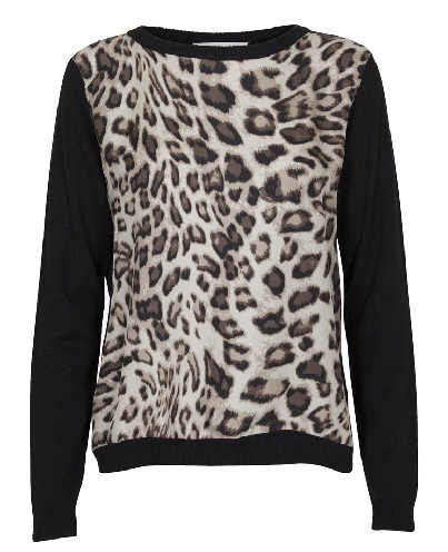 Animal Print Woolen Winter Top