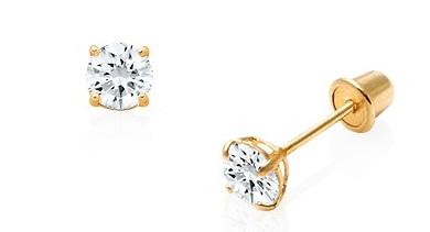 April Birthstone Earrings for Girls