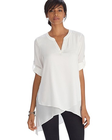 Asymmetrical in White