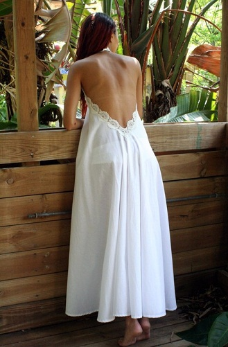 Backless Night Gown for Summer