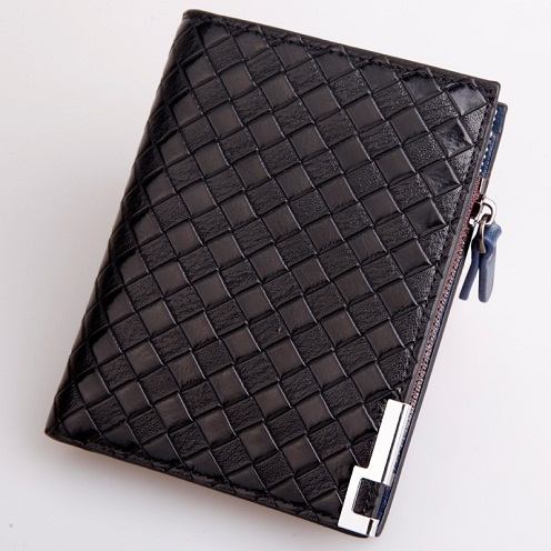 Basket Weave Designer Wallet for Men