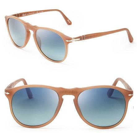 Beige Round Polarized Wayfarer Sunglasses