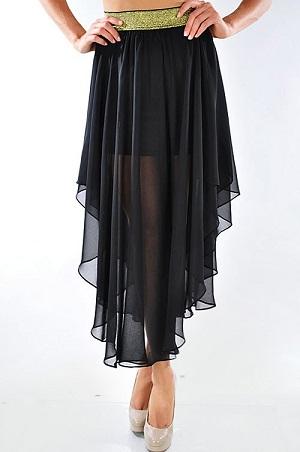 Best Black Flowy Skirt