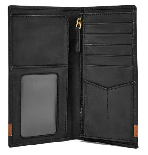Black& Brown Executive Long Wallet