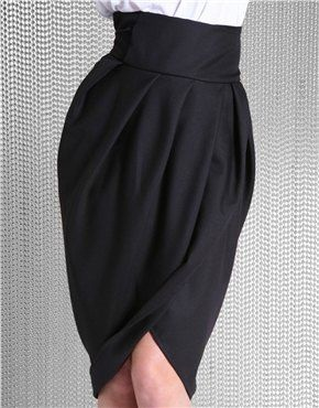 Black Formal Tulip Skirt
