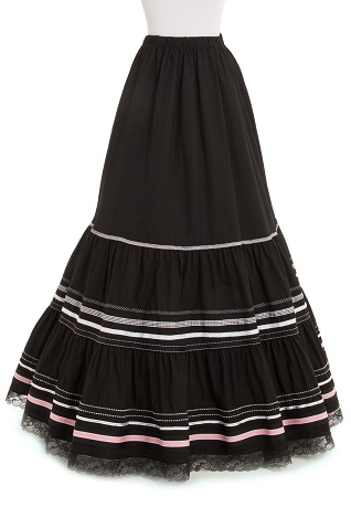 Black Regular Gypsy Skirt