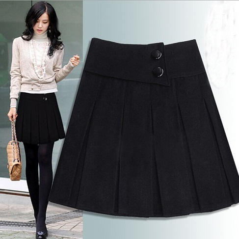 Wool Short Skirt 12