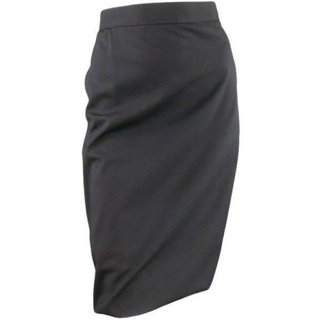 Black Tulip Pencil Skirt