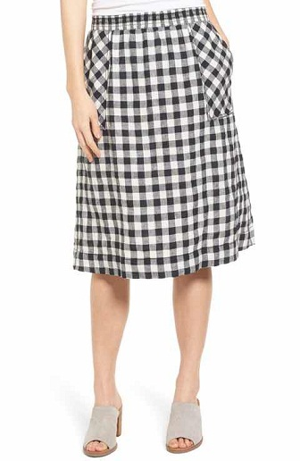 Black and white A-line skirt