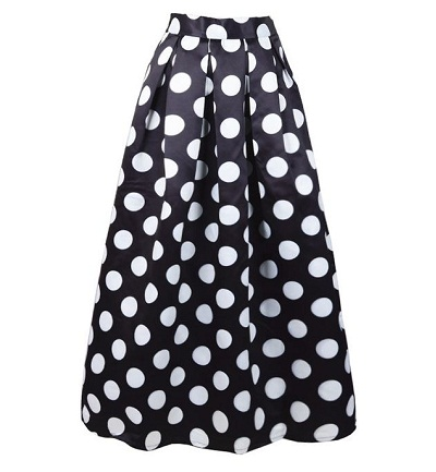 Black and white maxi style skirt