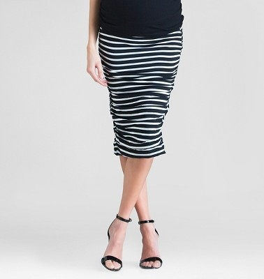 Black and white pencil type skirt