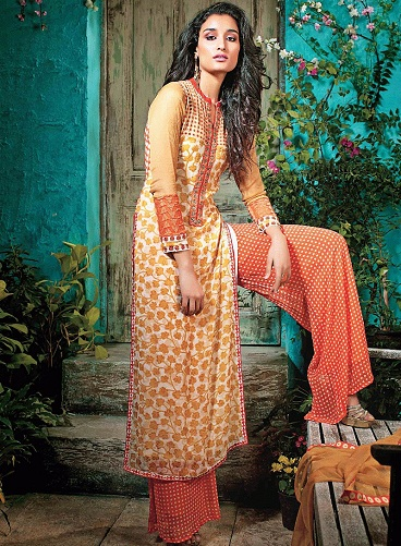 Blooming Palazzo Salwar Suit8
