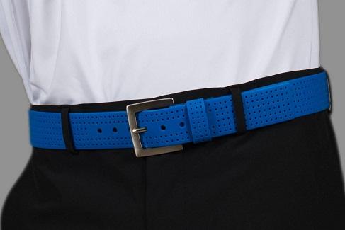 Blue Belt with Dot Pattern