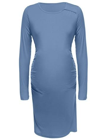 Blue Maternity Dress Tunic
