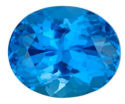 Blue Oval November Birthstone
