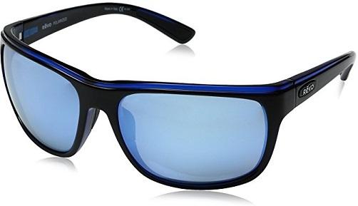 Blue Rectangular Polarized Sunglasses