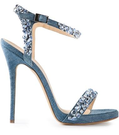 Blue jewel sandals