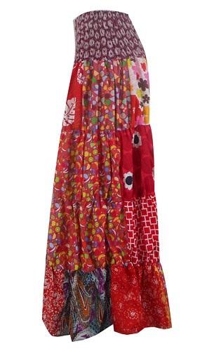 Bohemian Style Gypsy Skirt