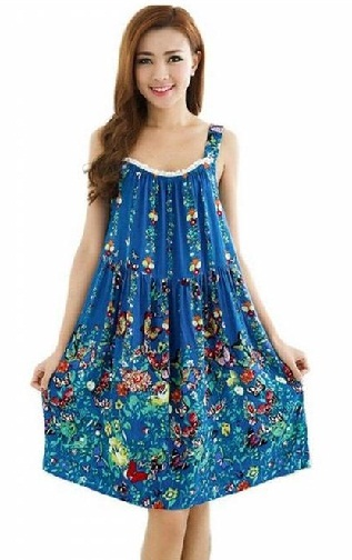 Bohemian Style Sleeveless Nighty