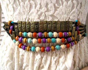Boho Style Wide Belt