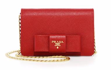 Bow chain Prada Wallet