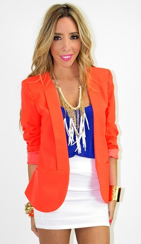 Boyfriend Orange Blazer