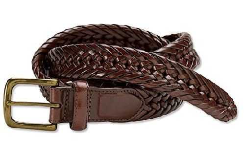 braided leather belts