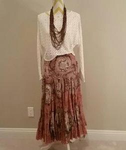 Broomstick designer skirt