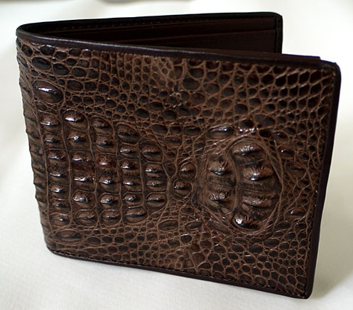 Brown Horn Back Crocodile Wallet