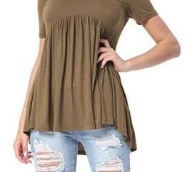 Brown Short Tunic Shirt for Women