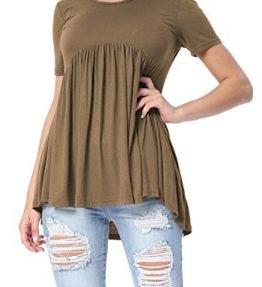 Brown Short Tunic Shirt for Women