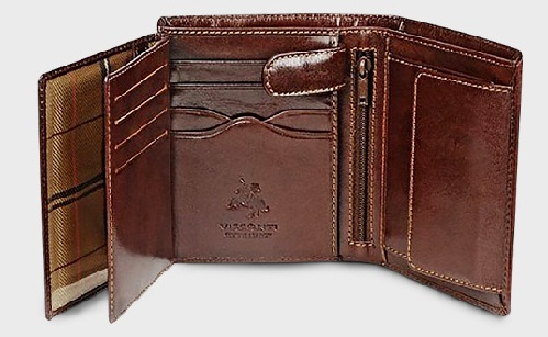 Brown Soft Trifold Wallet