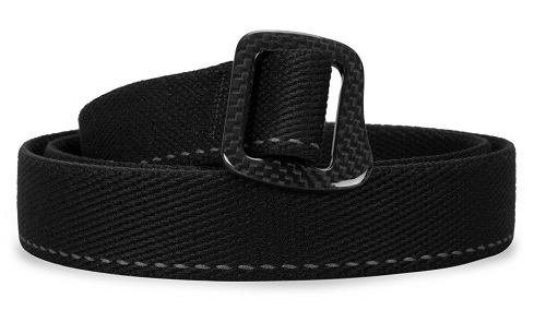 Carbon Fibre Webbing Black Belt