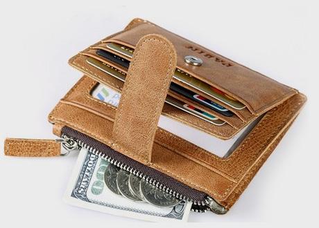 Card Holder Tan Slim Wallet