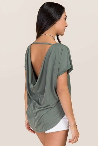 Casual Backless Top