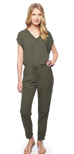 Casual Wear V-neck Jumpsuit