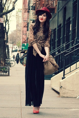 Casual maxi style skirt