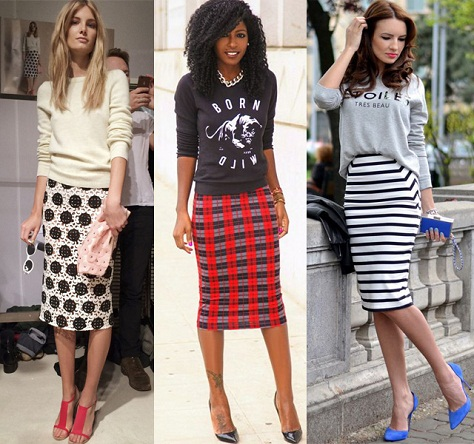 Casual tube skirts