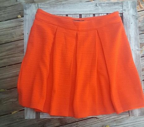 Casual wear orange skirt