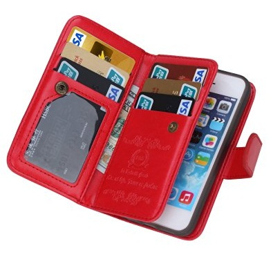 Cell Phone case Red Wallet