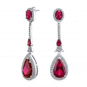Chandelier July birthstone earring
